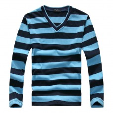 V Neck Striped Shirt